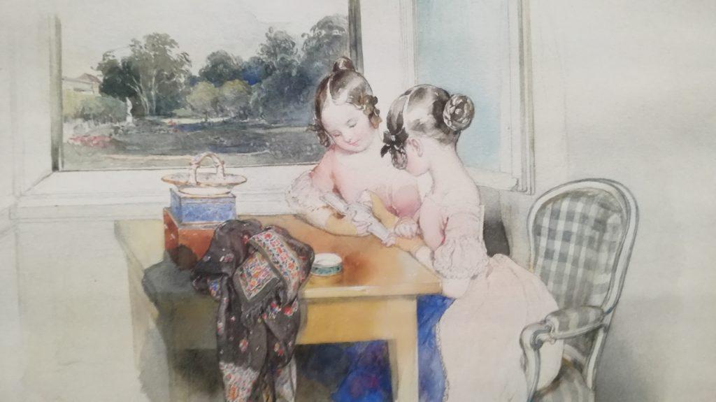 Peter Fendi, 1840, aquarella